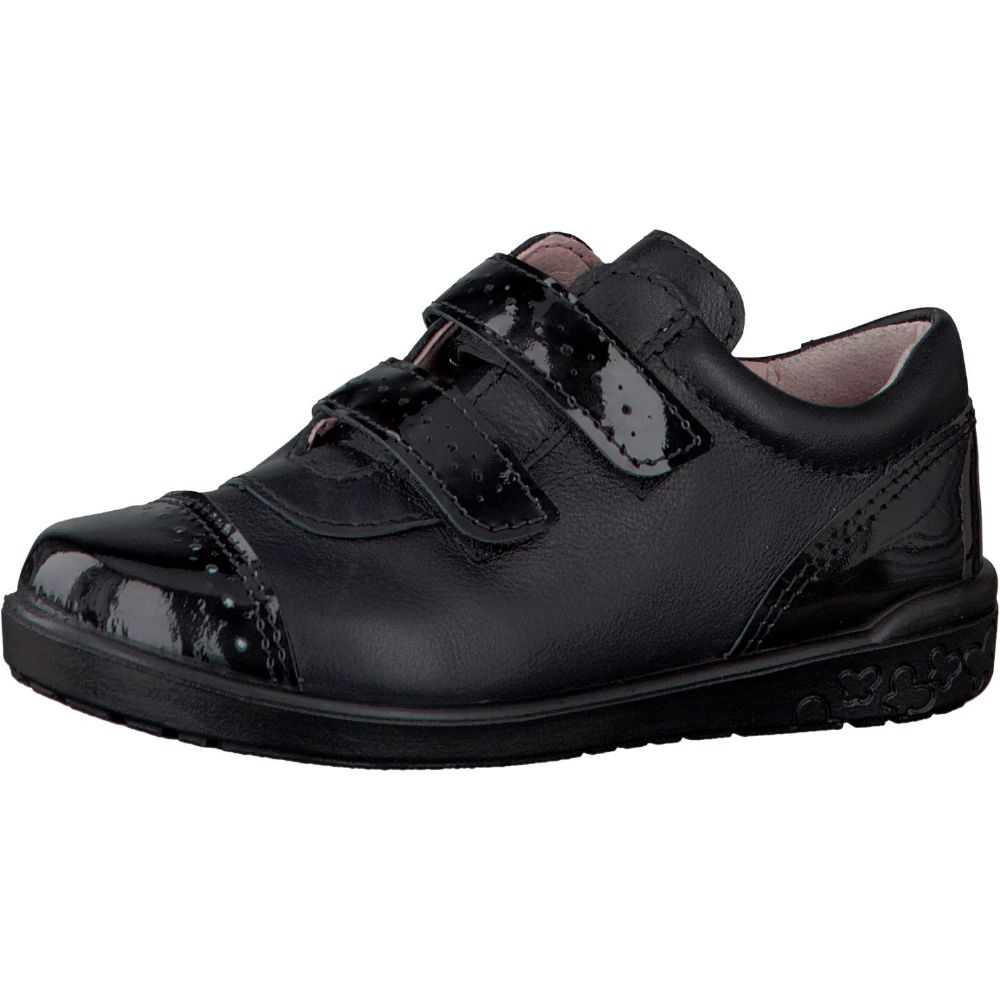 Ricosta GRACE Leather Velcro School Shoes (Black)